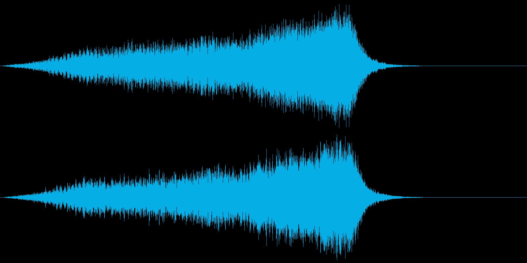 ホラー 近く 接近 恐怖 金属音 13の再生済みの波形