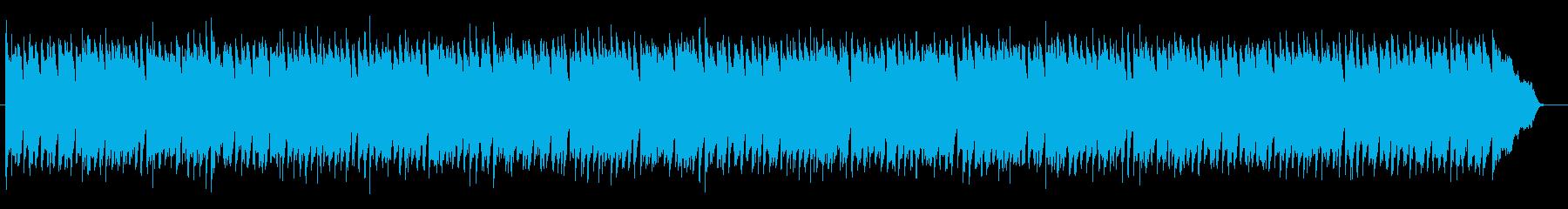 ワルツ風、ふわふわした感じのBGMの再生済みの波形