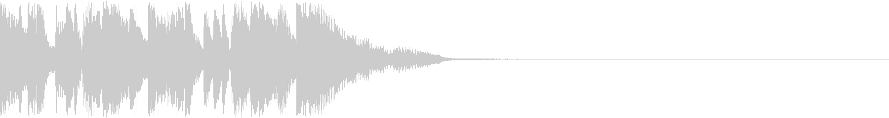 テクノポップなジングルの未再生の波形