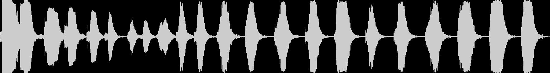 さまざまなマシンドリルの未再生の波形