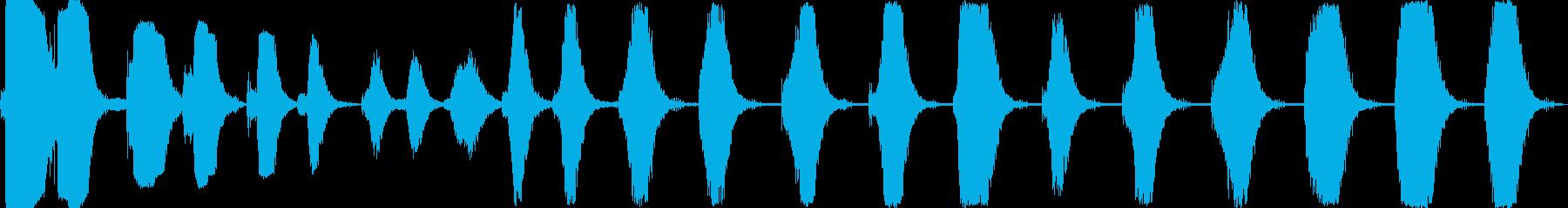 さまざまなマシンドリルの再生済みの波形
