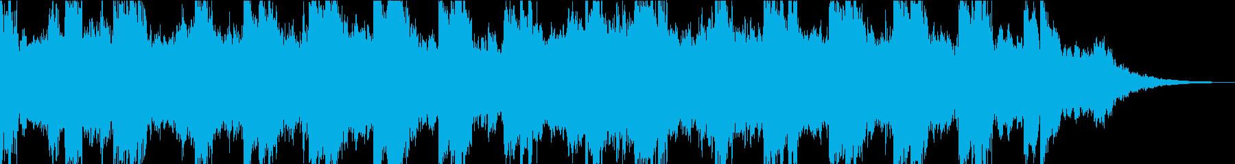 ダークなシンセと民族的雰囲気のBGMの再生済みの波形
