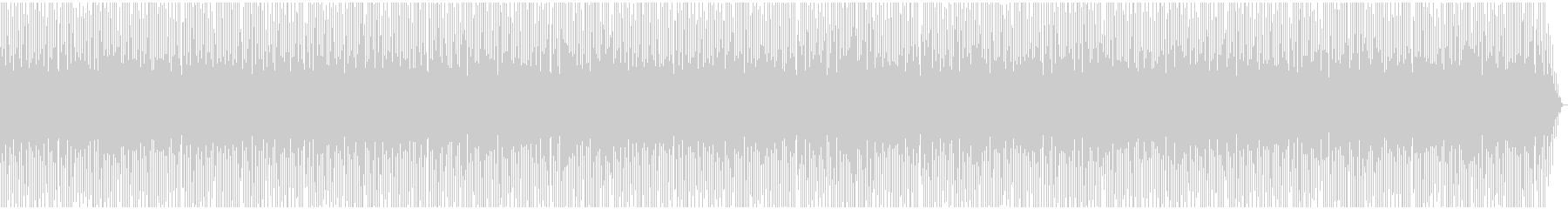 規律正しいリズムが爽やかな曲の未再生の波形