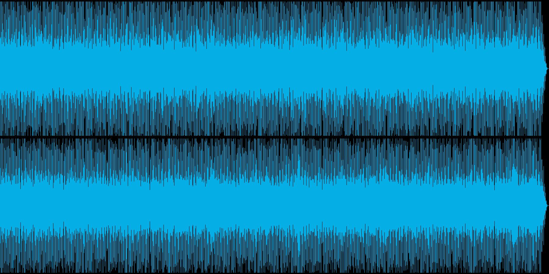規律正しいリズムが爽やかな曲の再生済みの波形