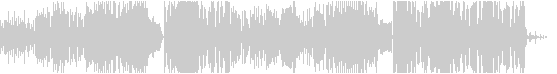 切ない歌とオリエンタルなEDMの未再生の波形