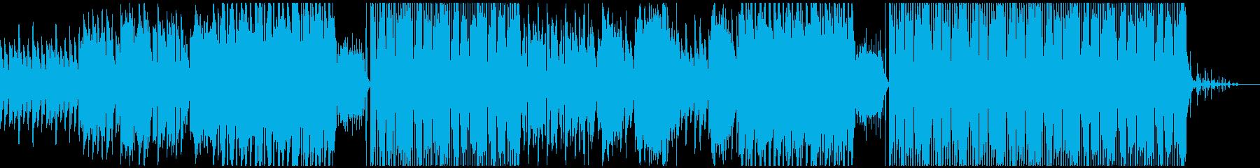 切ない歌とオリエンタルなEDMの再生済みの波形