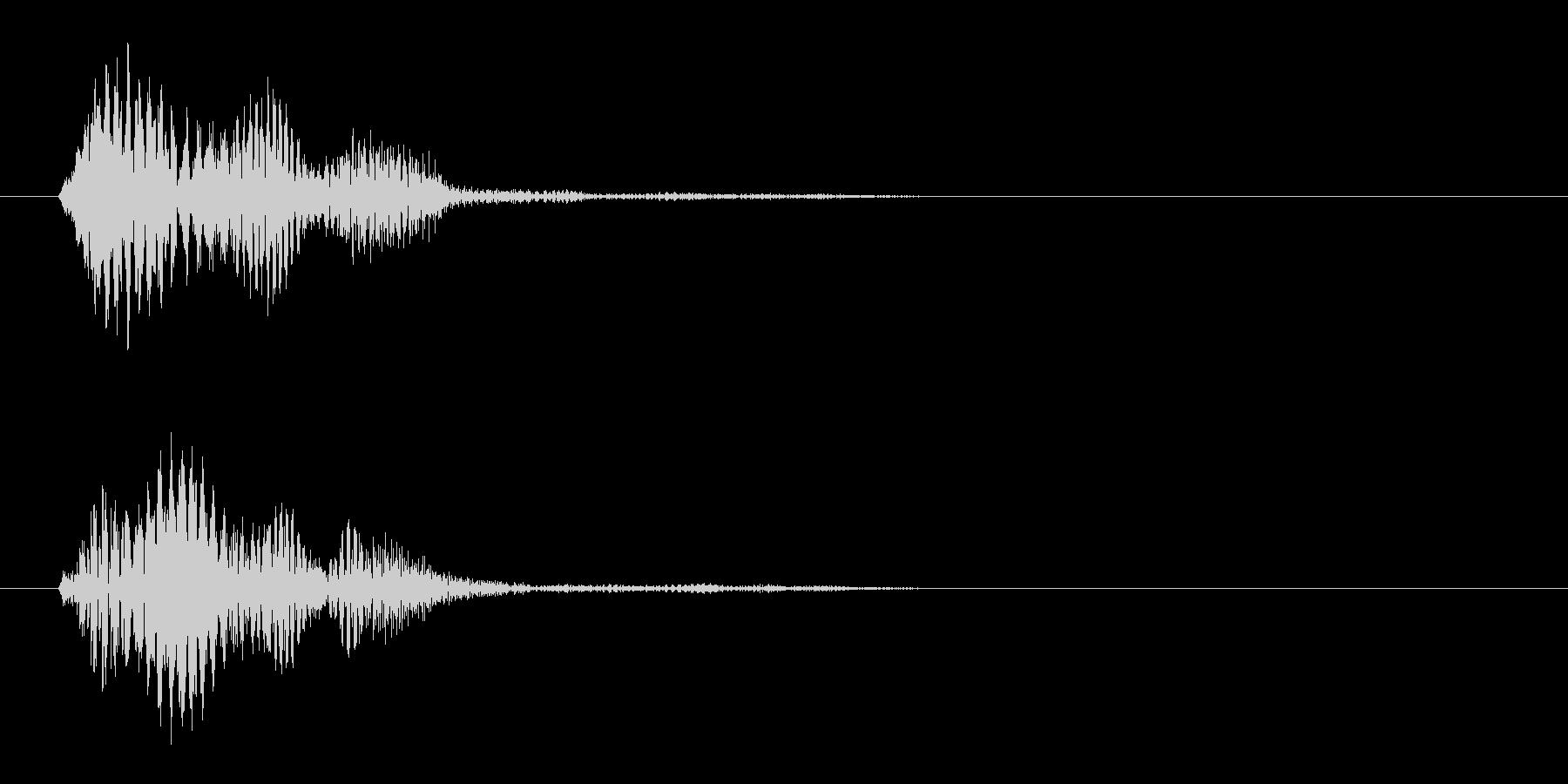 ピッ(ゲーム効果音、電子音、小鳥の声)の未再生の波形