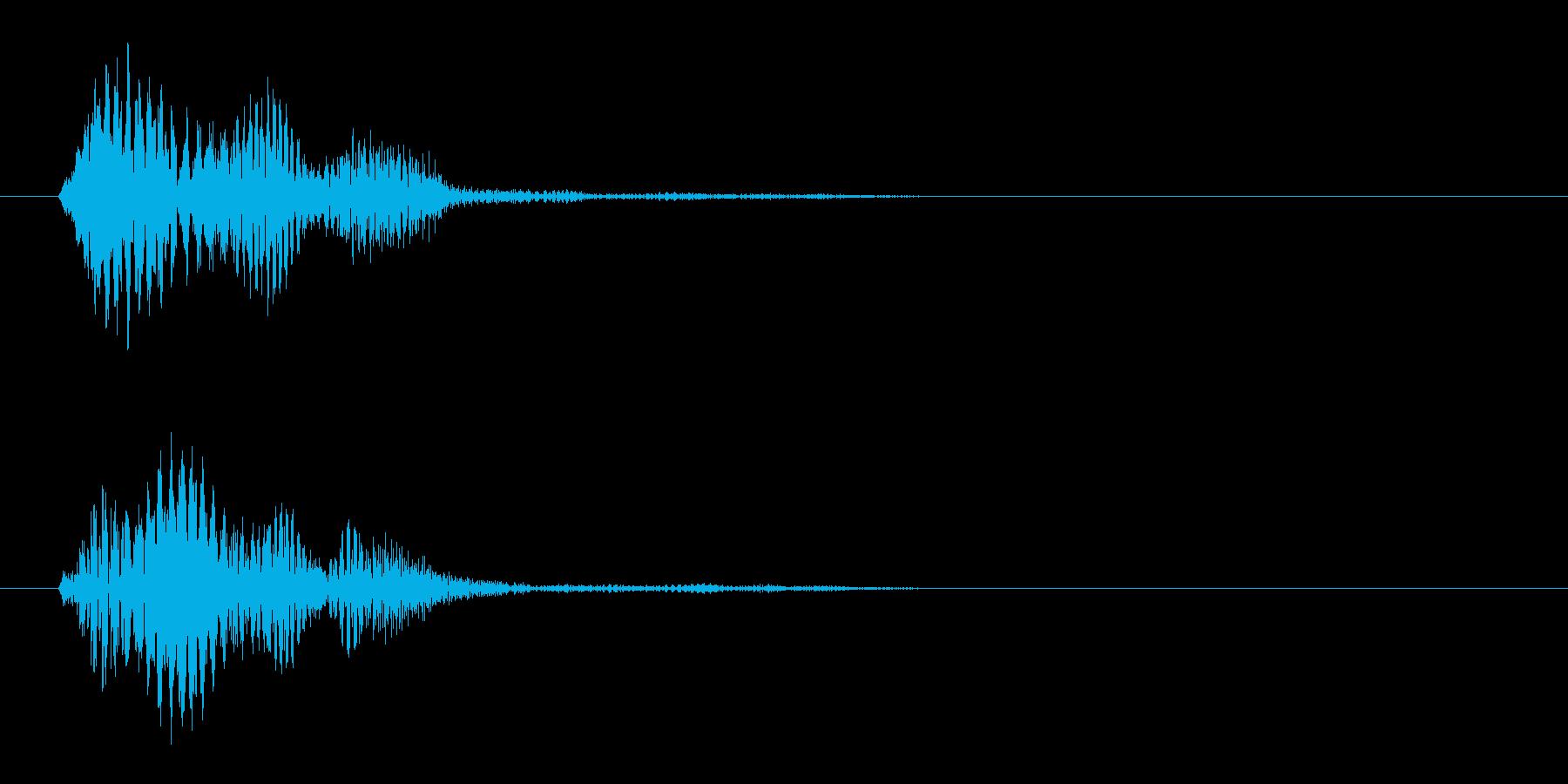ピッ(ゲーム効果音、電子音、小鳥の声)の再生済みの波形