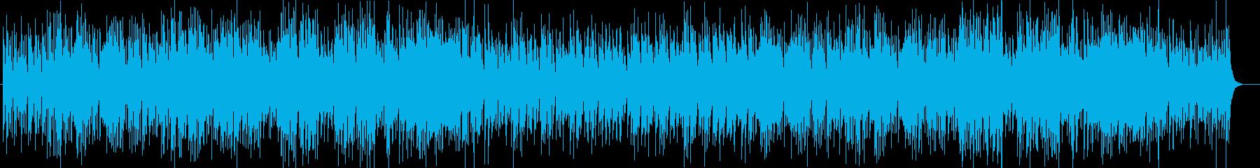 南国ムードのスチールドラムとシンセ曲の再生済みの波形