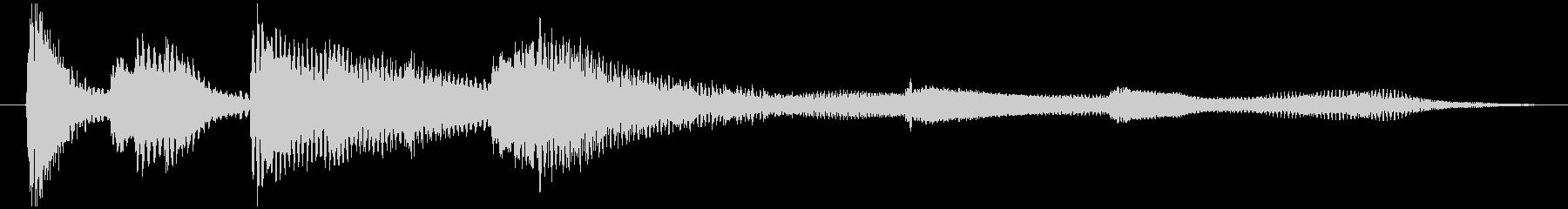 ピアノのシンプルなジングル6秒の未再生の波形