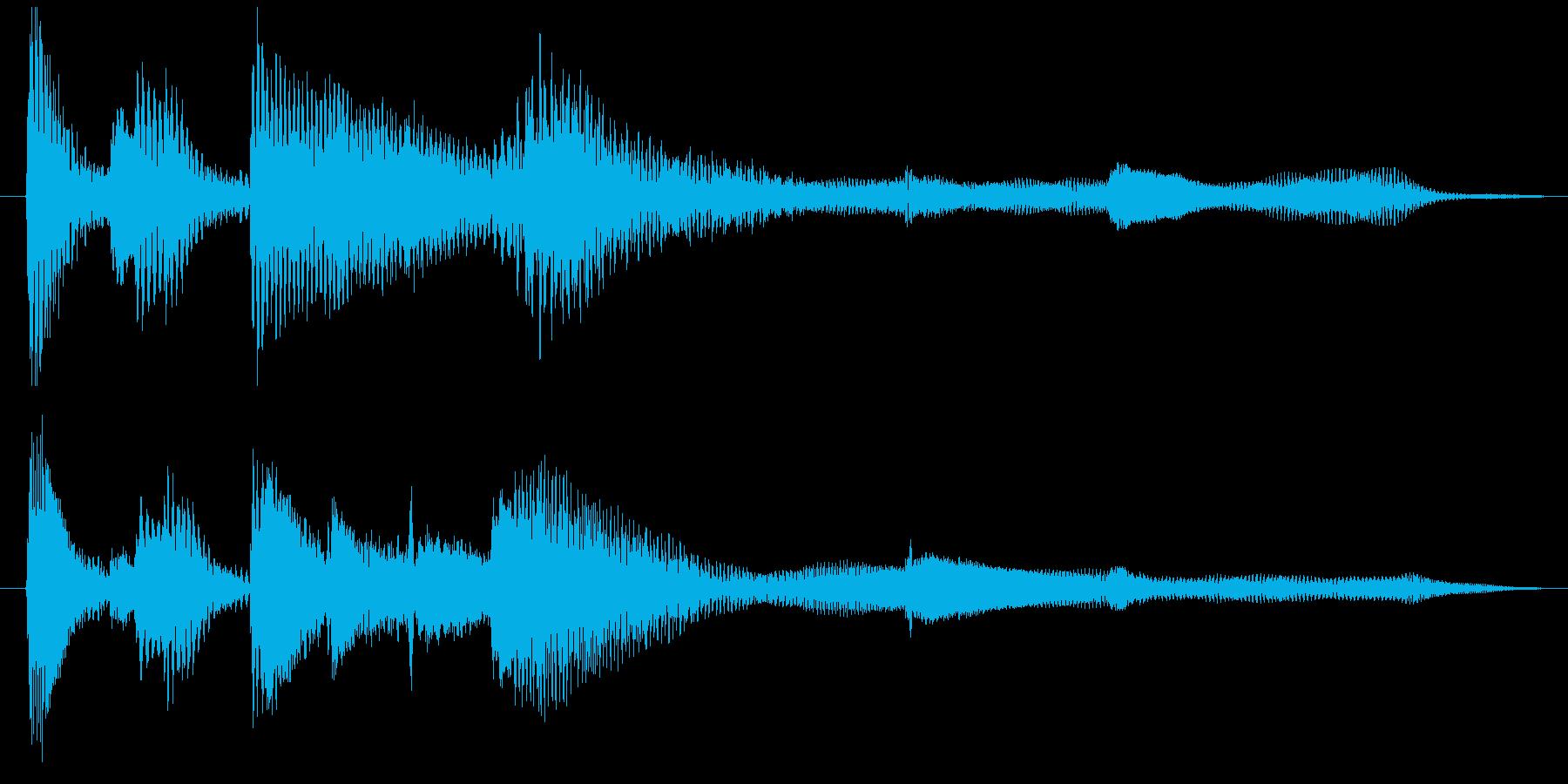 ピアノのシンプルなジングル6秒の再生済みの波形