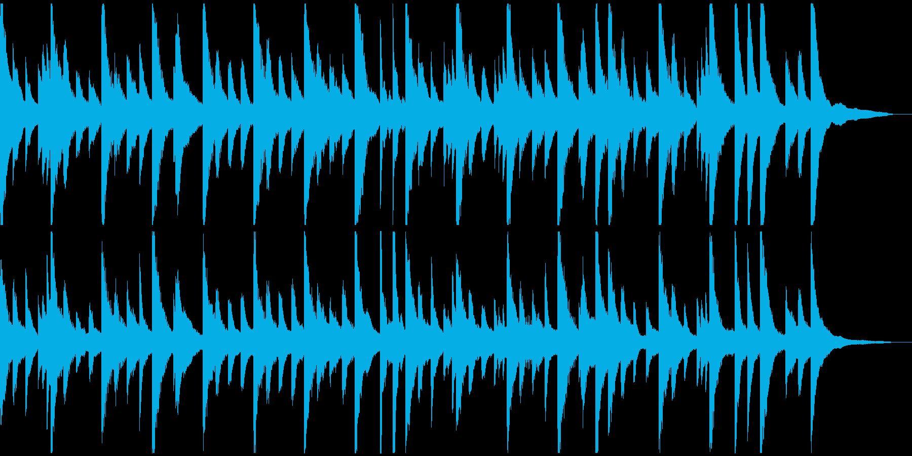少し憂鬱な気分のピアノ曲の再生済みの波形