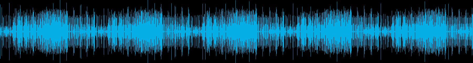 シンセサイザーによる幻想的なBGMの再生済みの波形