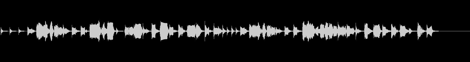 生演奏リコーダーと木琴のワルツ風BGMの未再生の波形