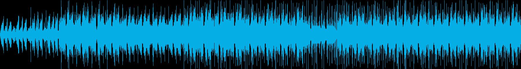 アンビエント感漂うEDM系ループBGMの再生済みの波形