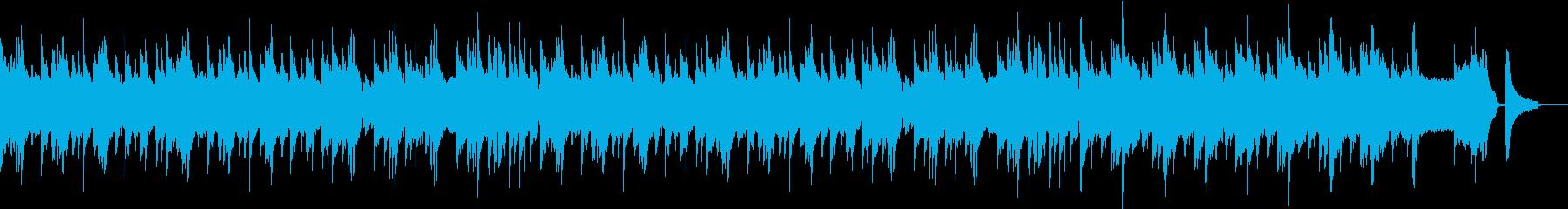 ゆっくりしたフルートのバラードの再生済みの波形