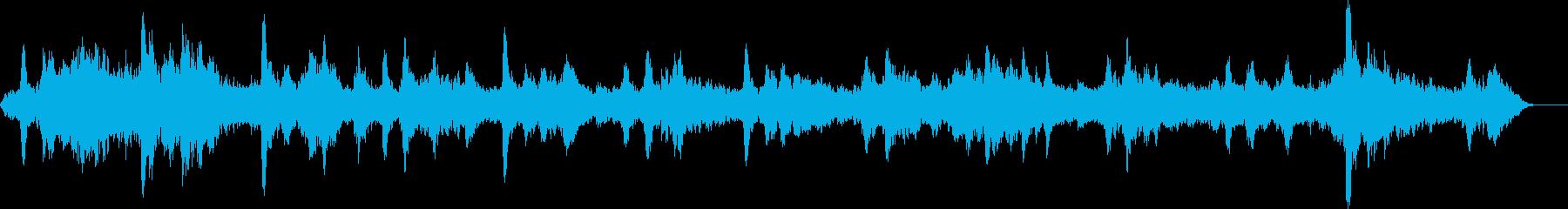 鐘の音が不気味なホラーアンビエントの再生済みの波形