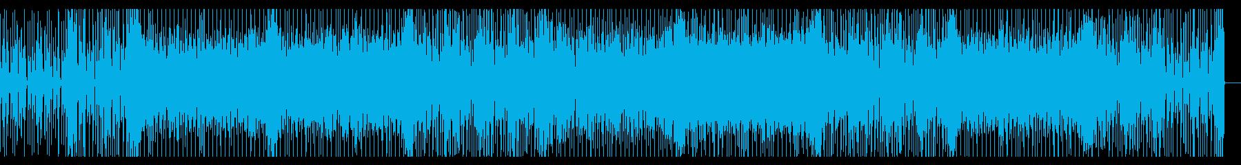 ちょっと妖しくて可愛いテクノ曲の再生済みの波形
