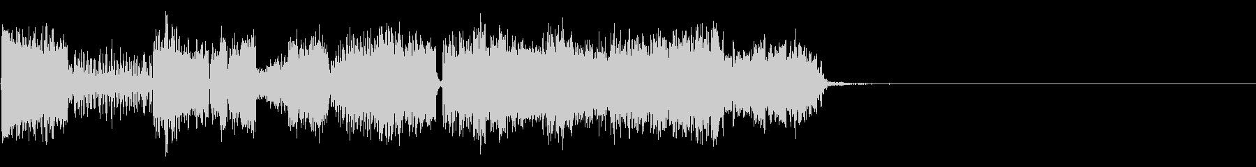 大きな静的なビープ音の未再生の波形