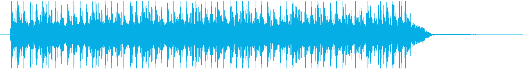 激情的なハードメタルの再生済みの波形