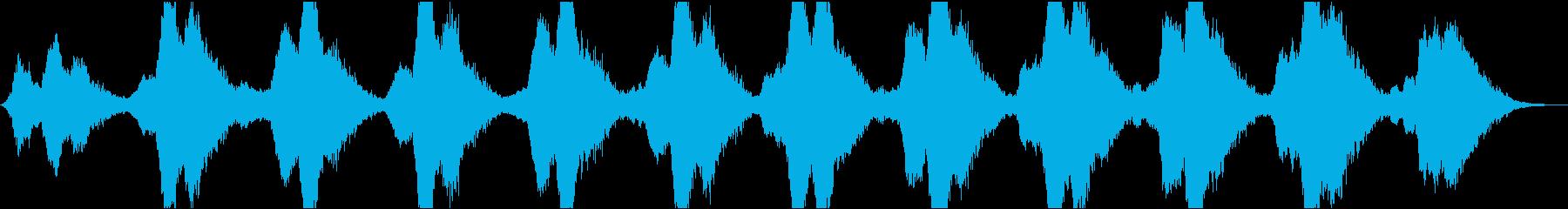 動画9 24bit44.1kHzVerの再生済みの波形