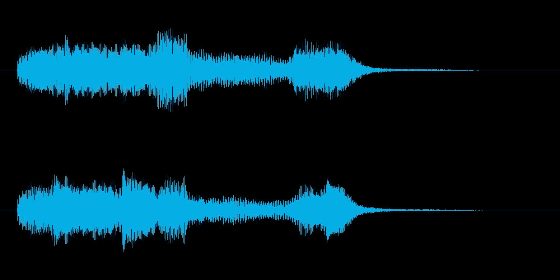 フワッとかわいいジングルの再生済みの波形