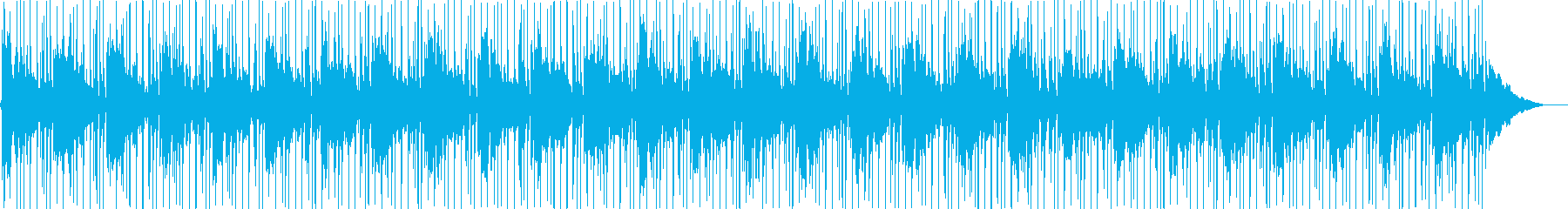 A relaxing melody's reproduced waveform