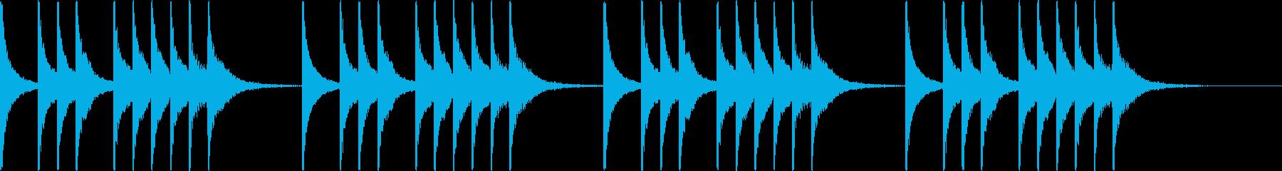iPhoneっぽい着信音の再生済みの波形