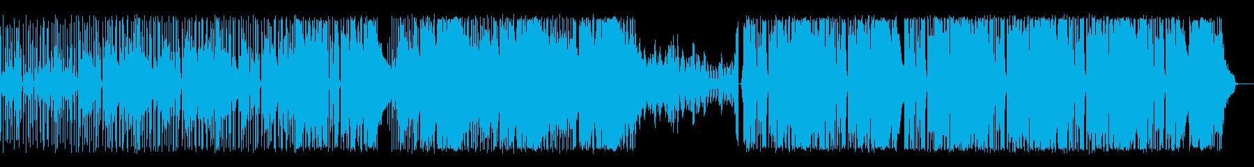 エキサイティングな尾行の場面の再生済みの波形