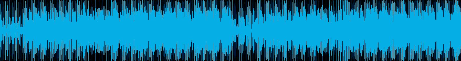 エレクトロハウス。まっすぐ。の再生済みの波形