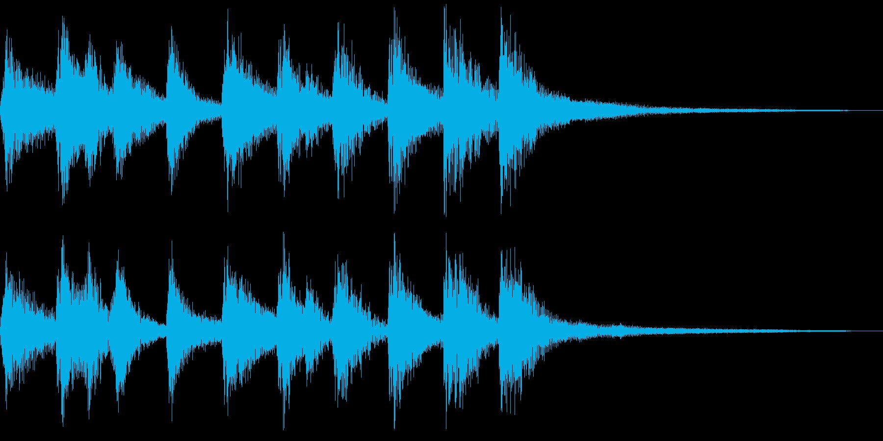 シンプルな三味線和風ジングルの再生済みの波形