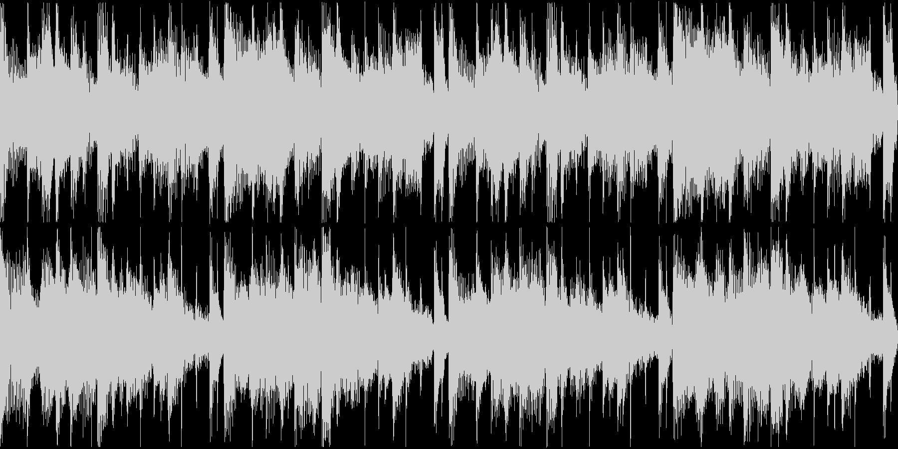 気怠く緩やかな日常系のボサノバ、ポップの未再生の波形