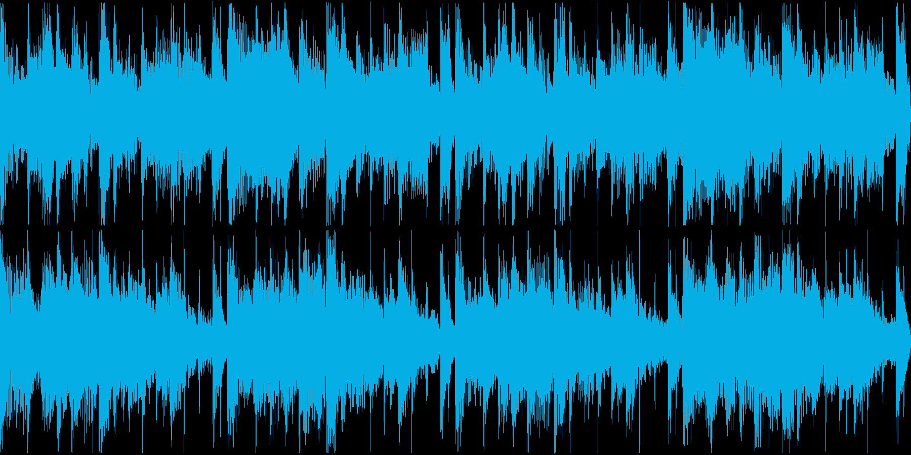 気怠く緩やかな日常系のボサノバ、ポップの再生済みの波形