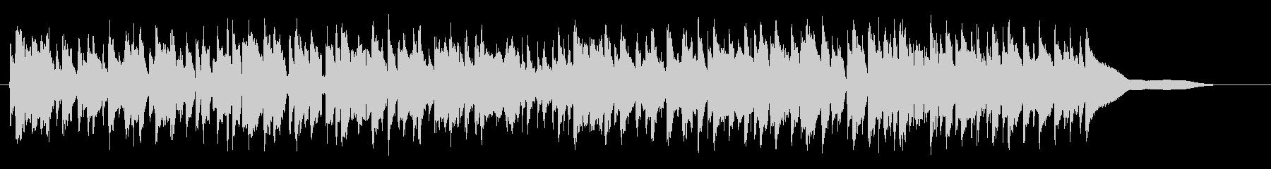弾むシンクロしたフルートの未再生の波形