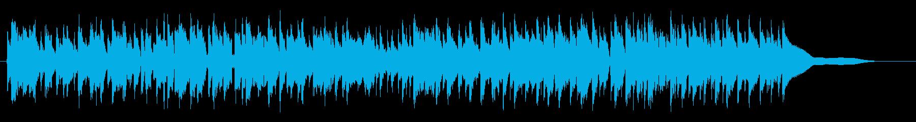 弾むシンクロしたフルートの再生済みの波形