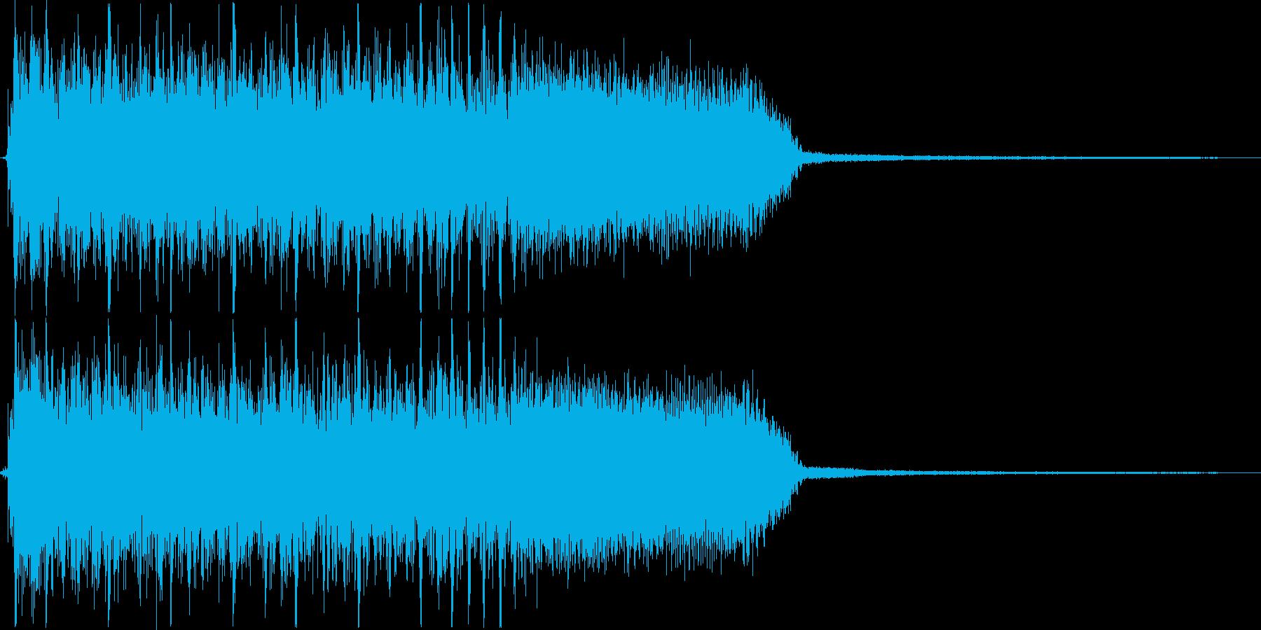 ギター速弾きとドラムのツーバスのジングルの再生済みの波形