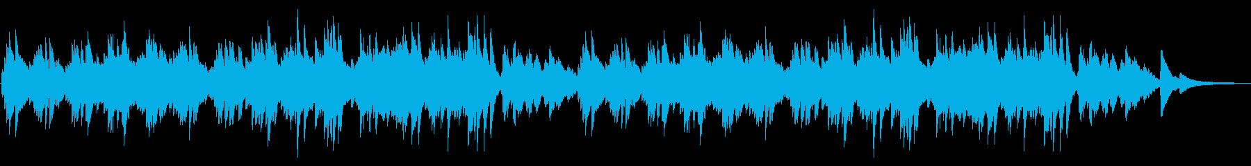 春っぽい前向きなピアノ曲の再生済みの波形