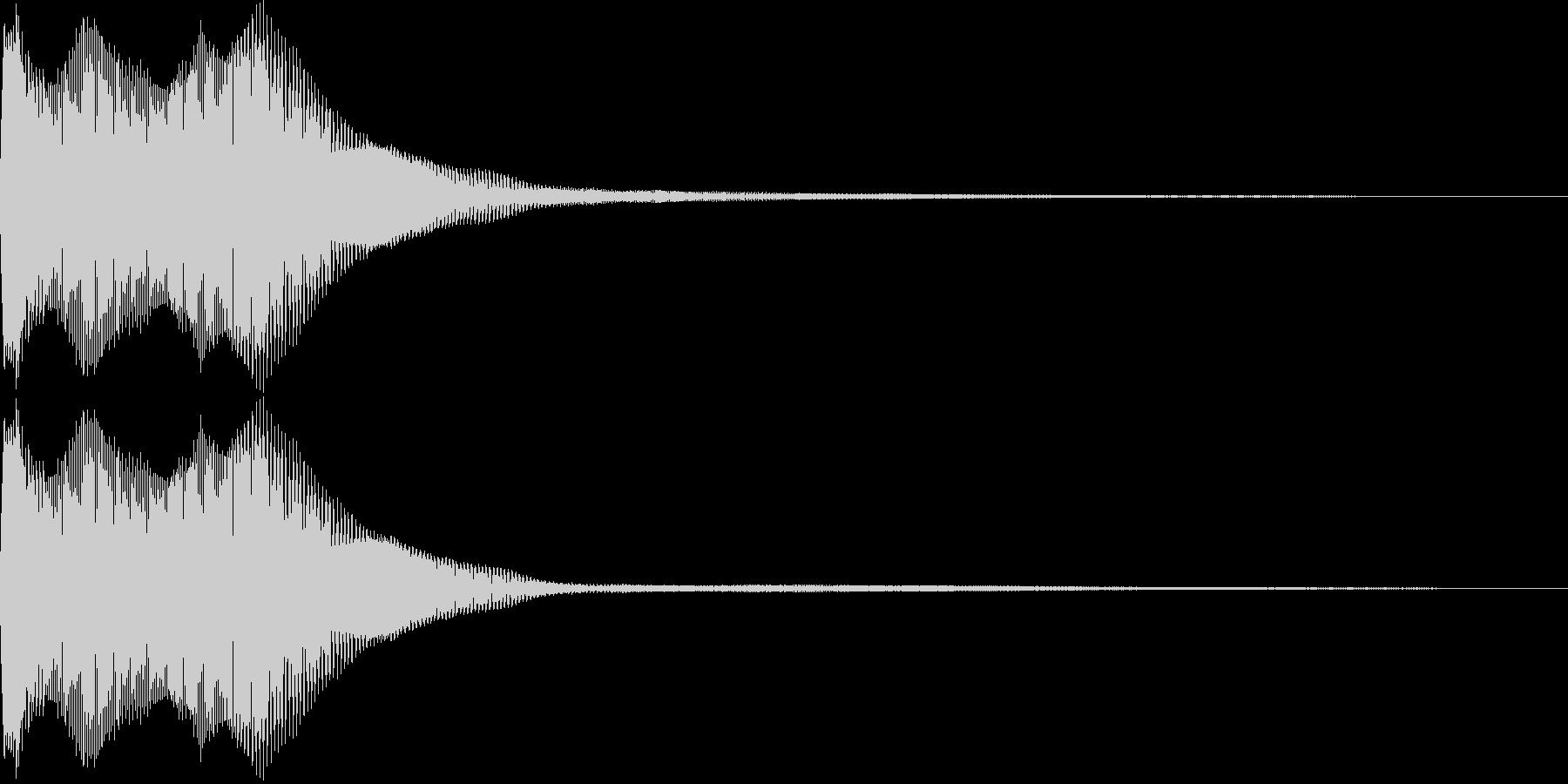 【SE】決定音08(ピョリロリー)の未再生の波形