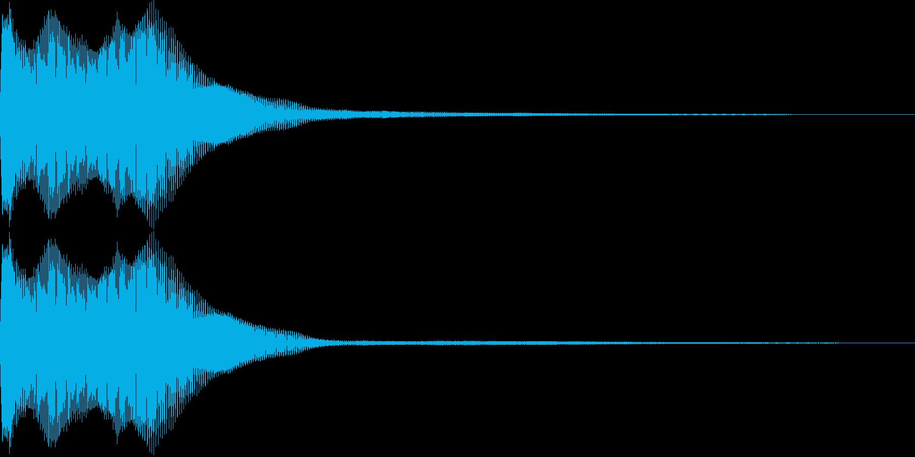 【SE】決定音08(ピョリロリー)の再生済みの波形