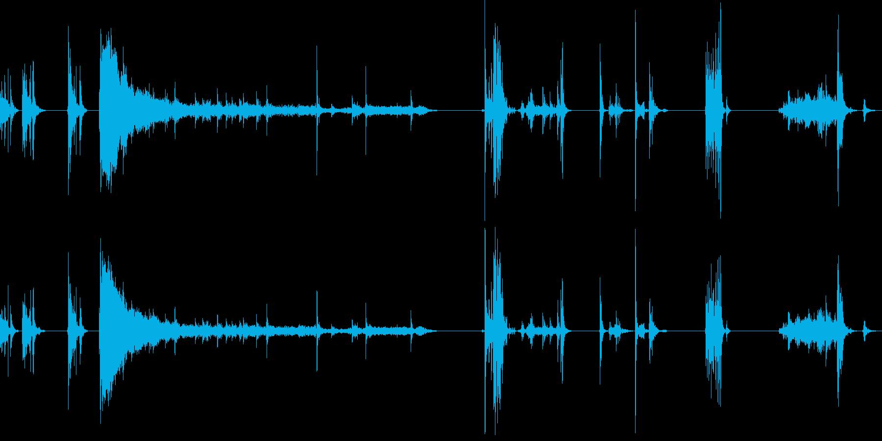 レジでの精算の流れの再生済みの波形