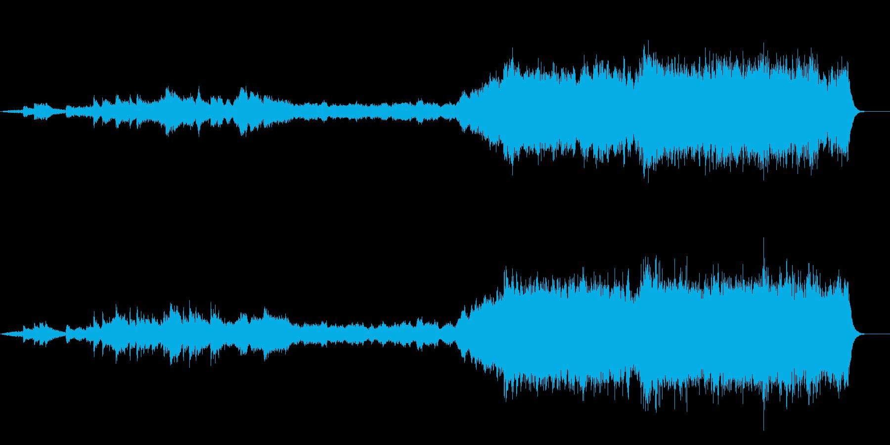 壮大に盛り上がっていくバッハカンタータの再生済みの波形