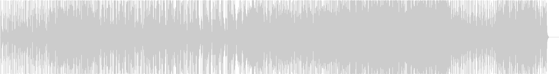 パワフルなエレクトロファンクビートの未再生の波形