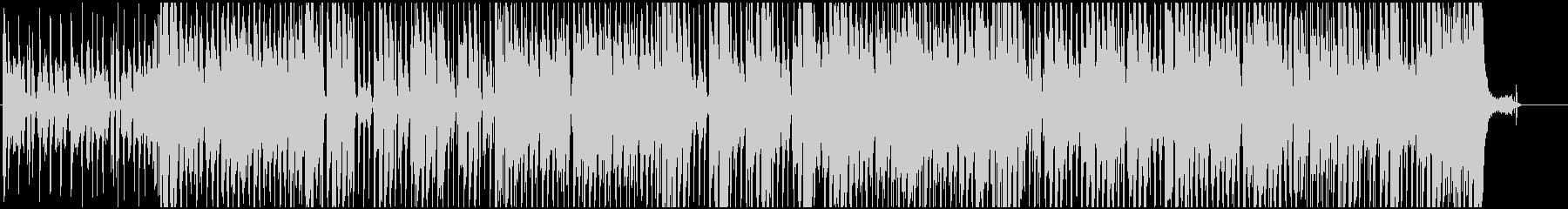 ノリノリで暖かい、ハッピーなBGMの未再生の波形