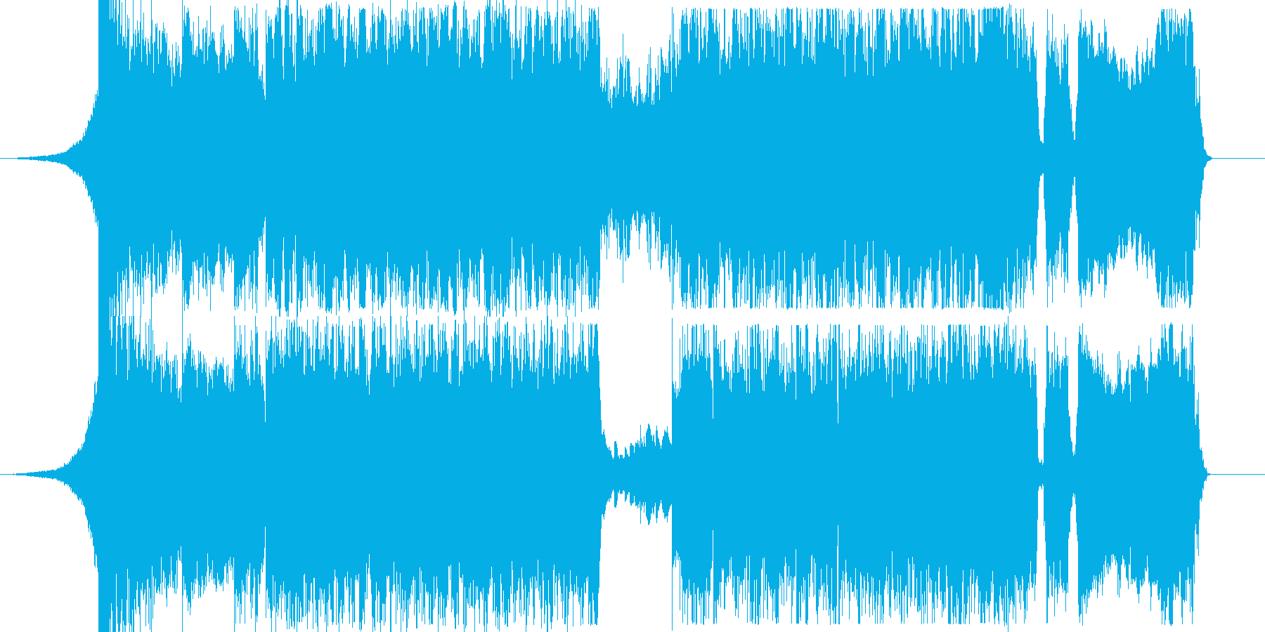 怪しく激しいギターロックの再生済みの波形