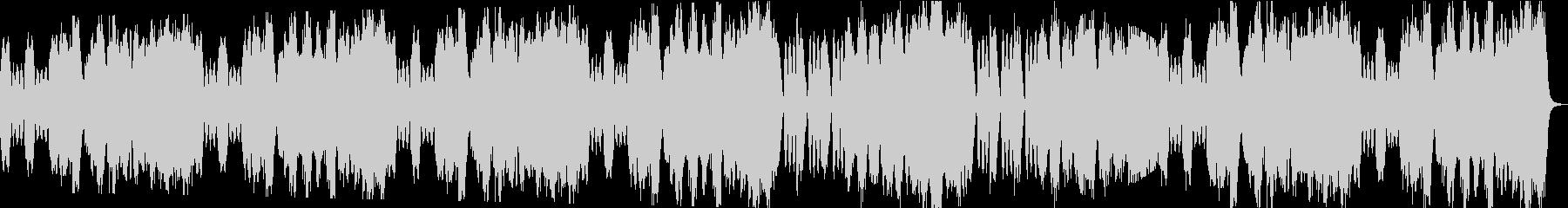 優雅なBGMの未再生の波形