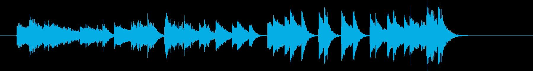 しゃれてクールなウエスタンピアノジングルの再生済みの波形