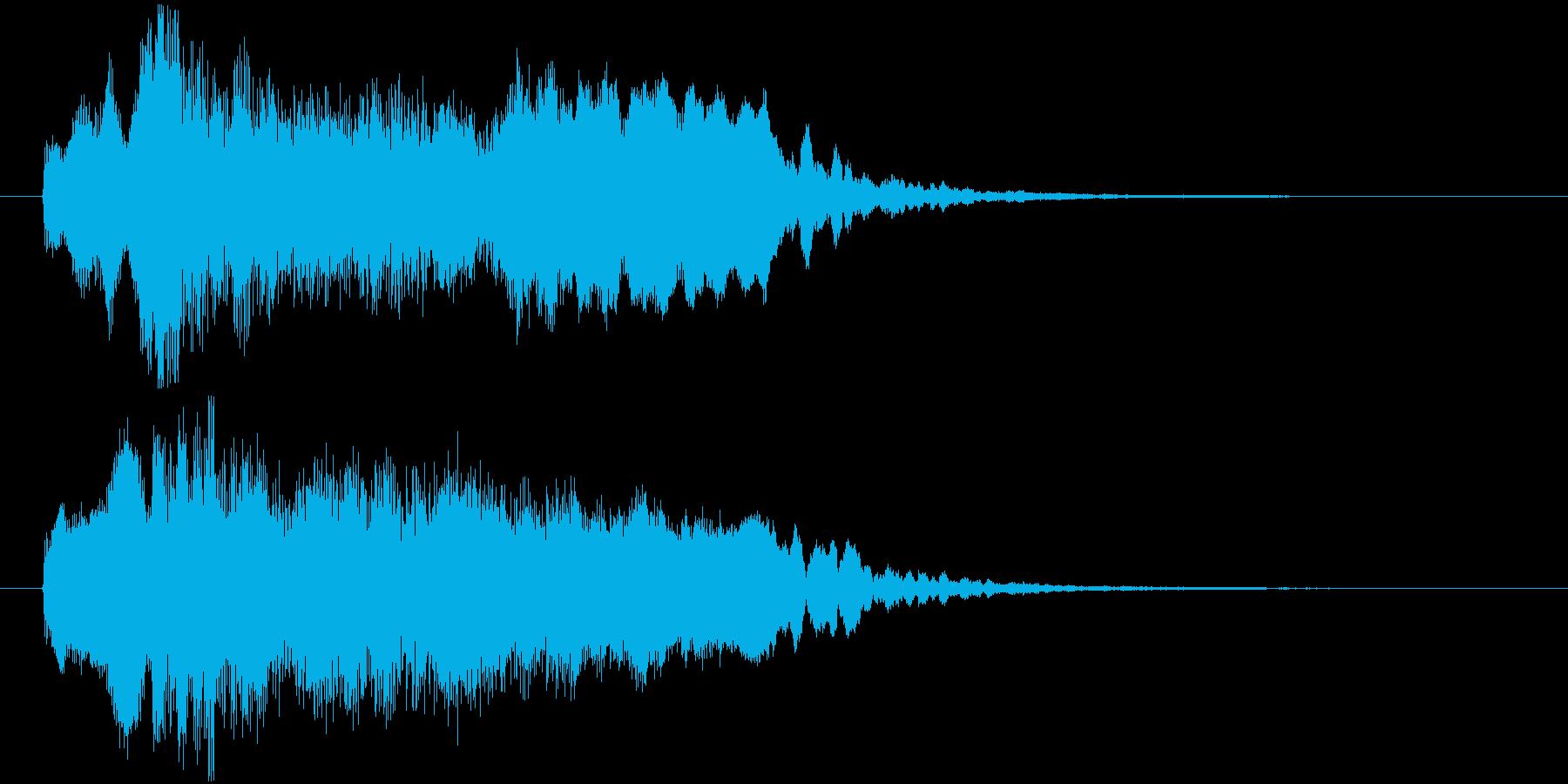アイリッシュ・ケルト風のジングル。の再生済みの波形