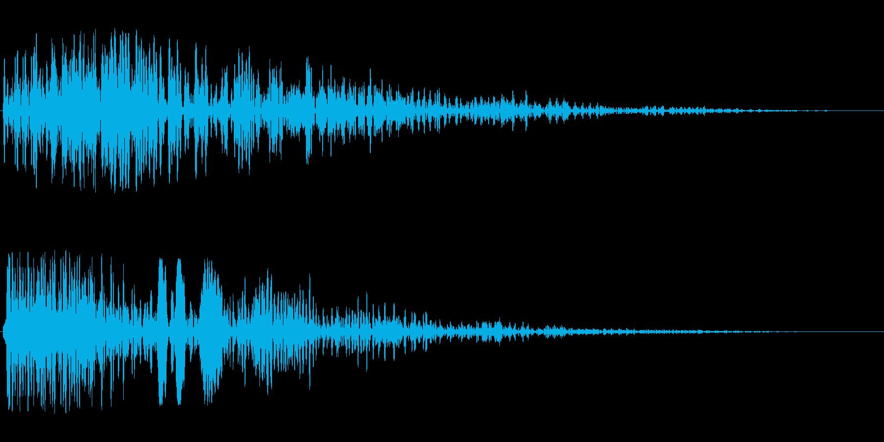 ビューン(スピード感19)の再生済みの波形