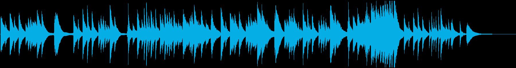 子守唄などをイメージしたピアノのBGMの再生済みの波形