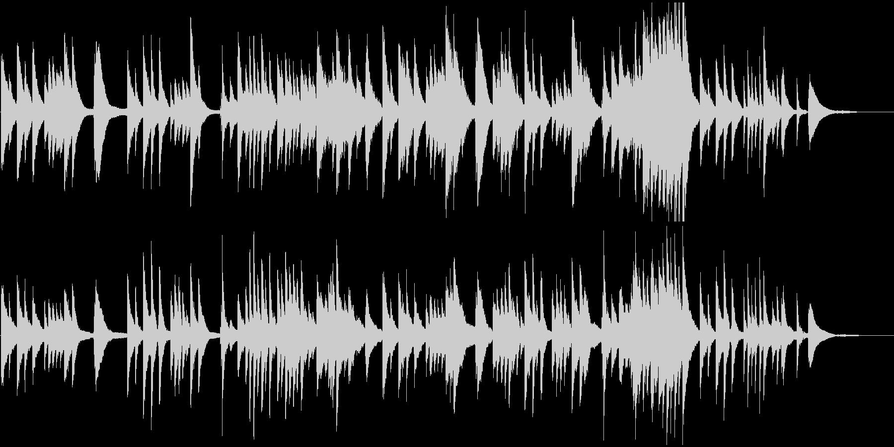 子守唄などをイメージしたピアノのBGMの未再生の波形